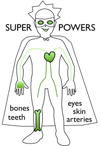 Green foods give Super Kid super powers!